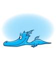 Of Ccute Cartoon Baby Dragon vector image