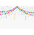party flags with confetti vector image