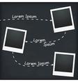 Three Photo Frames vector image