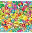 Vibrant floral summer pattern vector image