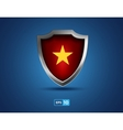 vietnam shield with yellow star on red background vector image