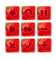 a set Cartoon red buttons vector image