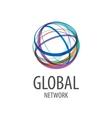 logo global network vector image vector image