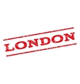 London Watermark Stamp vector image