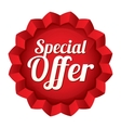Special offer price tag star sticker vector image