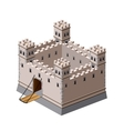 Medieval fortress vector image