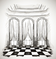 sketch of a classic parlor ballroom vector image