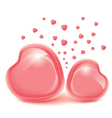 Love heart valentines day frames for photo vector image