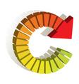 rewind logo vector image vector image