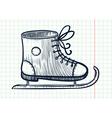 skating shoe vector image