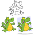 crocodile cartoon design vector image