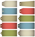 Set of colour label with knitwear texture vector image