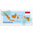 mail to-from Indonesia vector image