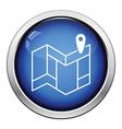 Navigation map icon vector image