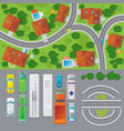 city landscape top view concept vector image