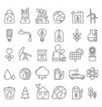 eco symbols in mono line style industrial and vector image