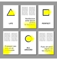 Journaling business cards templates vector image