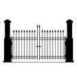 Metal gate silhouette vector image