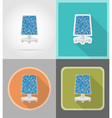 power and energy flat icons 10 vector image