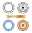 Set of round geometric vector image
