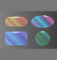 set of transparent pearlescent banners of vector image