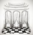 sketch of a classic parlor ballroom vector image
