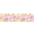Sweet flowers horizontal seamless pattern vector image