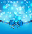 Christmas glowing packing with bow vector image
