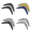 australian boomerang icon in cartoon style vector image