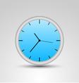 a blue clock vector image
