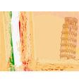 pisa tower grunge background vector image