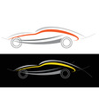 sport car logo vector image vector image