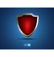 red shield on the blue background vector image