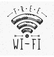 Wi-fi sign in vintage style vector image