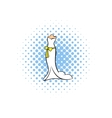 Wedding dress comics icon vector image