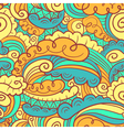 abstract seamless pattern in doodle style vector image