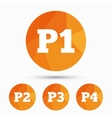 Car parking icons First and second floor sign vector image