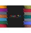 Colorful silk ribbons vector image vector image