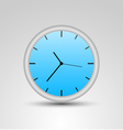 a blue clock vector image