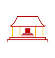 abstract simple chinese pagoda temple graphic vector image