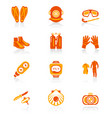 diving icons - juicy series vector image