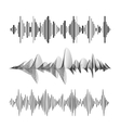 eqalizer set black and white vector image