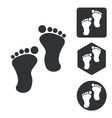 Footprint icon set monochrome vector image