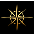 gold compass icon vector image