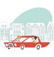 Ladies driving auto vector image