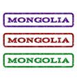mongolia watermark stamp vector image