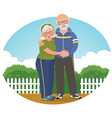 Old couple in track suits vector image