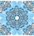 Seamless oriental Mandala Print on blue watercolor vector image