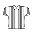 striped t-shirt vector image
