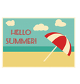 Summer retro card with text vector image
